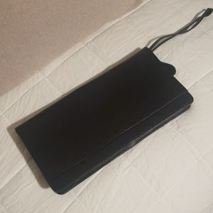 Gary's leather black travel clutch